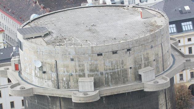 Der Flakturm in der Wiener Stiftskaserne (Bild: Peter Tomschi)