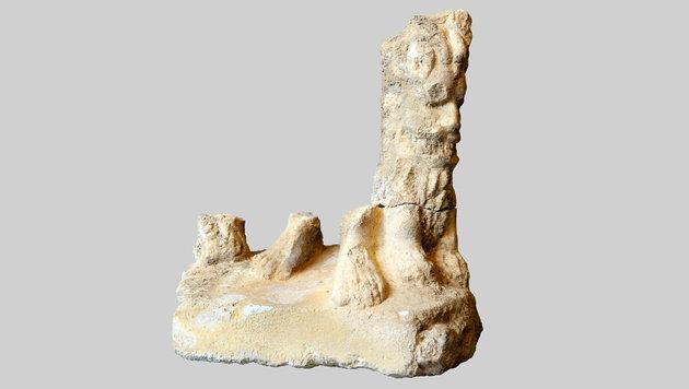 Unterteil einer Hercules-Statuette aus Marmor (Bild: APA/OÖ Landesmuseum)