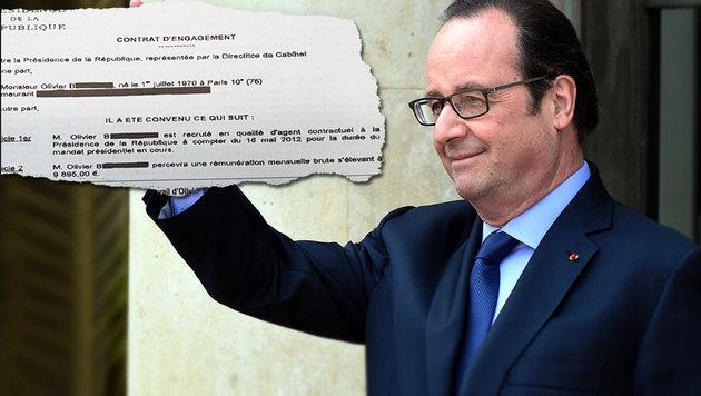 9895 Euro: Hollande verteidigt Gehalt für Friseur (Bild: APA/AFP/DOMINIQUE FAGET, Le Canard Enchaine)