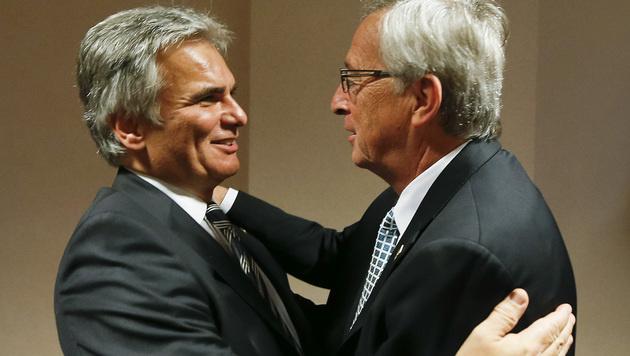 Faymann sprach mit Juncker über seine Zukunft (Bild: APA/BKA/ANDY WENZEL)