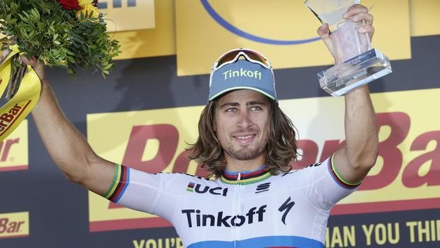 Peter Sagan gewinnt Etappe nach Montpellier (Bild: AP)