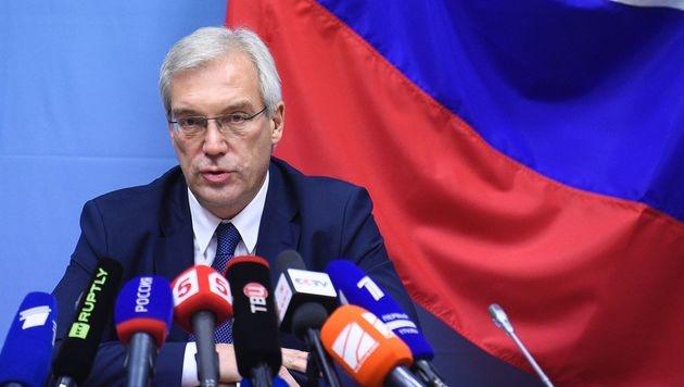 Russlands NATO-Botschafter Alexander Gruschko (Bild: APA/AFP/JOHN THYS)