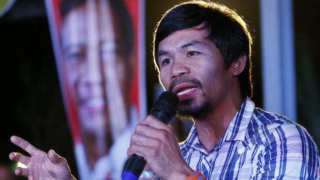 Pacquiao ist nicht nur ein internationaler Box-Star, sondern auch Politiker auf den Philippinen. (Bild: ASSOCIATED PRESS)