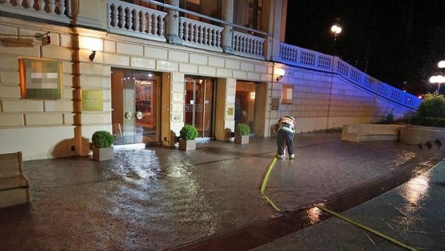 Im niederösterreichischen Baden kam es zu Überflutungen. (Bild: Einsatzdoku.at)