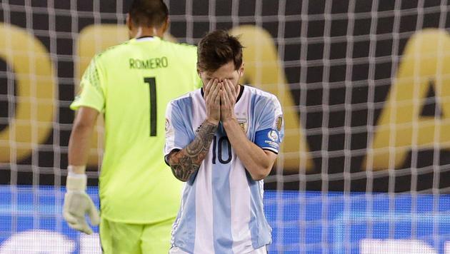 Messi nach dem verlorenen Copa-America-Match gegen Chile (Bild: GEPA)