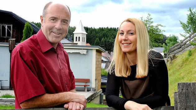 Erwin F. mit Brigitte Quint (Bild: Franz Crepaz)