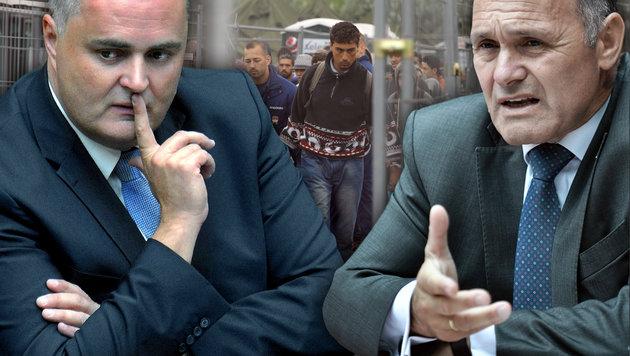 Doskozil, Sobotka: Flüchtlingsstrom weiter bremsen (Bild: AFP/PETER KOHALMI, APA/HERBERT PFARRHOFER, APA/HANS KLAUS TECHT)