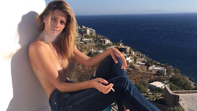 Mischa Barton posiert oben ohne im Mykonos-Urlaub. (Bild: instagram.com/mischaamazing)