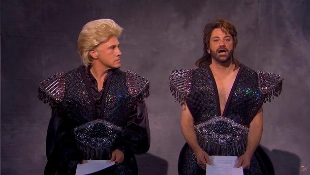 Christoph Waltz und Jimmy Kimmel als Siegfried und Roy (Bild: YouTube.com)