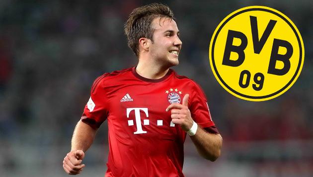 Bayerns Götze kehrt angeblich nach Dortmund zurück (Bild: GEPA)