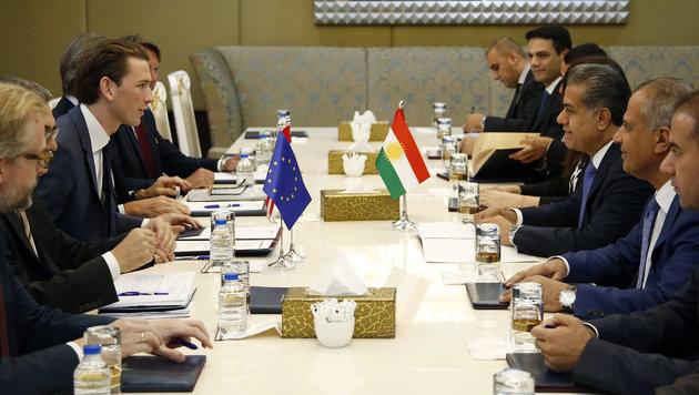 Außenminister Sebastian Kurz bei seinem Arbeitsbesuch in Erbil (Bild: Außenministerium/Dragan Tatic)