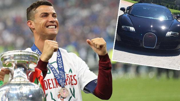 """Ronaldo präsentiert nach EM-Sieg sein neues """"Tier"""" (Bild: APA/AFP/VALERY HACHE, instagram.com)"""