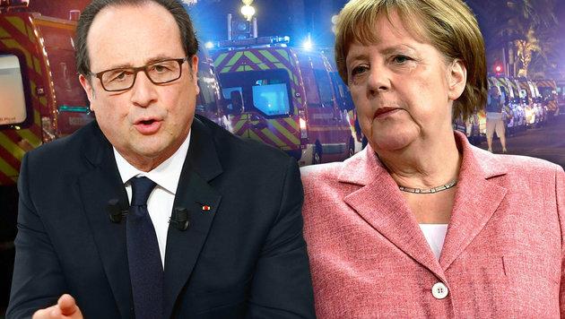 Weltweites Entsetzen nach Blutbad von Nizza (Bild: AP, AFP/John MACDOUGALL, AFP/POOL/Francois Mori)