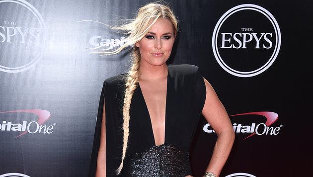 """""""Lady in black"""": Lindsey Vonn geizt bei den ESPY-Awards in LA nicht mit ihren Reizen. (Bild: Jordan Strauss/Invision/AP)"""