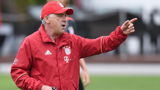 Bayern-Coach Ancelotti: Italienisch bedeutet Zorn (Bild: AP)