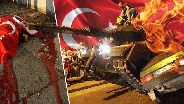 Bilanz der Chaos-Nacht: 265 Tote, 2800 Festnahmen (Bild: AFP/ADEM ALTAN, AFP/Bulent KILIC, thinkstockphotos.de)