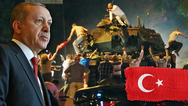 Erdogan-Anh�nger ringen putschendes Milit�r nieder (Bild: AFP, AP, Thinkstockphotos.com)