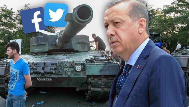 Erdogan verbündet sich mit verhassten Social Media (Bild: AFP/GURCAN OZTURK, AP/Alik Keplicz)