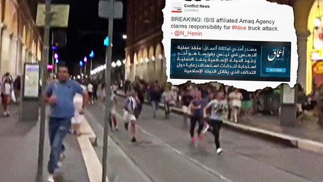 Islamischer Staat bekennt sich zu Nizza-Terror (Bild: AFP PHOTO/INSTAGRAM/GA.MORROW, twitter.com)