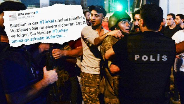 Sicherheit der Österreicher hat oberste Priorität (Bild: AP/Selcuk Samiloglu, twitter.com)