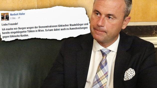 """Hofer: """"Mache mir Sorgen wegen Türken in Wien"""" (Bild: Martin A. Jöchl, facebook.com)"""