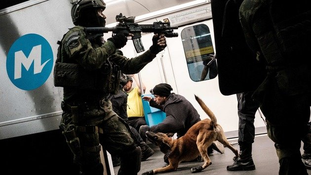 Olympia: Rio probt den Anti-Terror-Kampf (Bild: AFP or licensors)