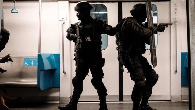 Olympia: Rio probt den Anti-Terror-Kampf (Bild: APA/AFP/YASUYOSHI CHIBA)