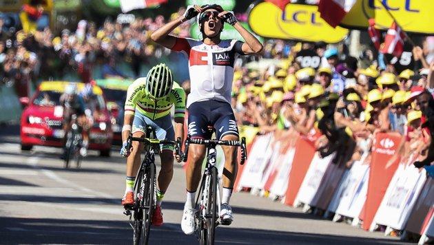 Pantano gewinnt 1. Alpen-Etappe der Tour de France (Bild: AFP or licensors)
