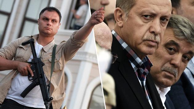 Erdogan entrann nur durch viel Glück dem Tod (Bild: AFP/ARIS MESSINIS, AP)