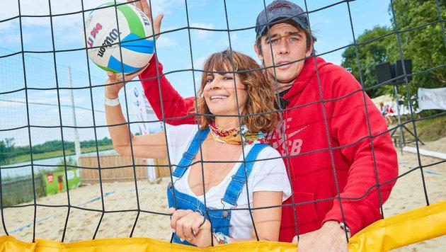 Bagger-Duo: Gitta Saxx und Werner Schreyer (Bild: Starpix/ Alexander TUMA)