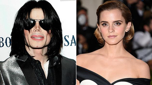 Michael Jackson wollte angeblich Emma Watson heiraten. (Bild: AP, Evan Agostini/Invision/AP)