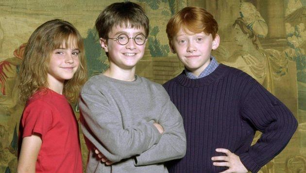 Emma Watson, Daniel Radcliffe und Rupert Grint (Bild: dpa)
