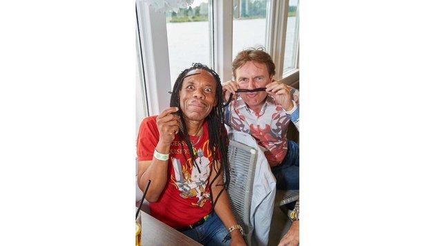 Spaß: Greg Bannis und Kurt Elsasser (Bild: Starpix/ Alexander TUMA)