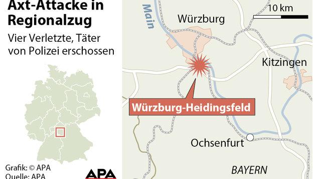 IS-Miliz bekennt sich zum Axt-Anschlag von Bayern (Bild: APA)