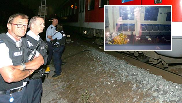 Sicherheitskräfte erschossen den Attentäter von Würzburg während seiner Flucht. (Bild: EPA, AP)