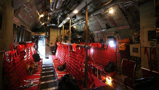 Der Innenraum der Hercules C-130 (Bild: Christoph Matzl)