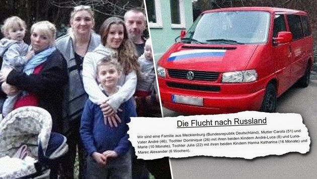 """Familie auf Flucht vor """"BRD-Diktatur"""" (Bild: facebook.com)"""