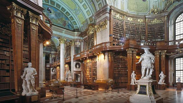 Google zeigt Prunksaal der Nationalbibliothek (Bild: Google)
