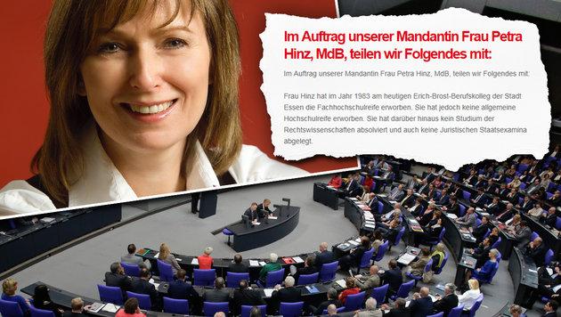 SPD-Abgeordnete gibt Fälschung des Lebenslaufs zu (Bild: AP/Markus Schreiber, petra-hinz.de)