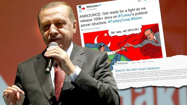WikiLeaks: Tausende Türkei-Mails veröffentlicht (Bild: AP, WikiLeaks)