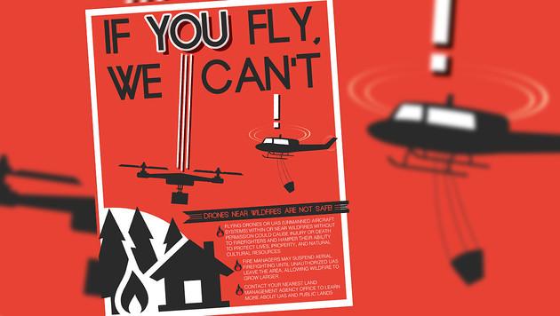 Löscharbeiten behindert: US-Drohnenpilot verhaftet (Bild: AP, krone.at-Grafik)
