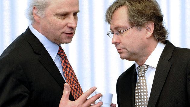 Lorenz und Wrabetz (Bild: APA/HELMUT FOHRINGER)