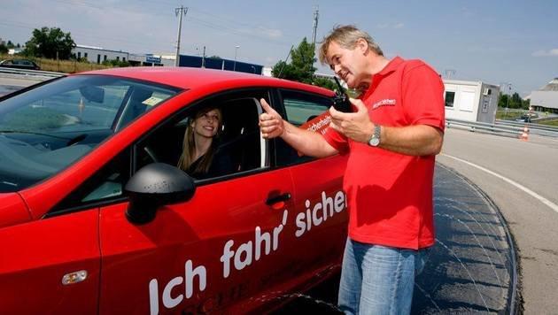 """""""Fahrsicherheitstraining: Schleudern für Anfänger (Bild: ARBÖ)"""""""