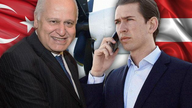 Botschafter Mehmet Hasan Gögüs musste zu Minister Sebastian Kurz zum Rapport. (Bild: APA/DRAGAN TATIC, picturedesk.com, thinkstockphotos.de)