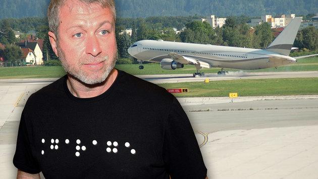 Abramowitsch-Jet verparkt den Klagenfurter Airport (Bild: Daniel Raunig, Flughafen Klagenfurt)