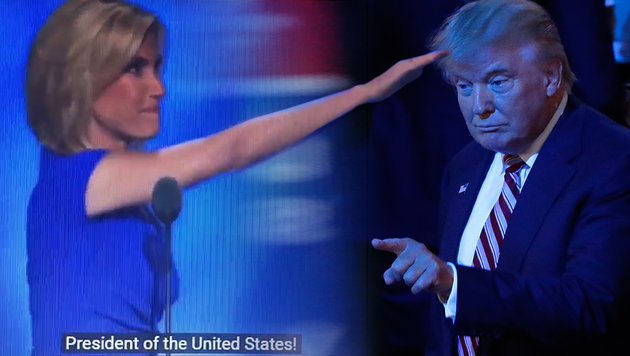 """""""Hitlergru�"""" sorgt bei US-Republikanern f�r Wirbel (Bild: twitter.com, AP)"""