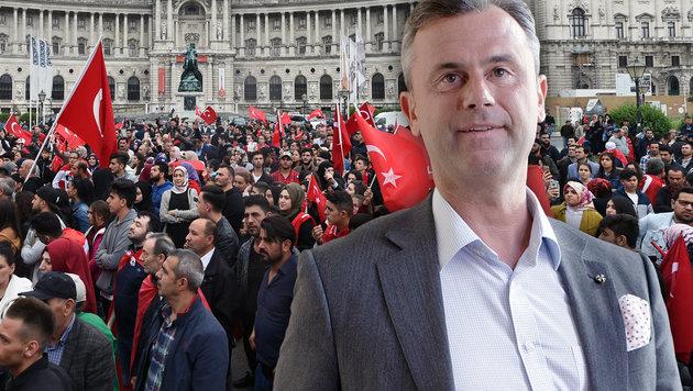 Norbert Hofer ist für einen Einbürgerungsstopp von Türken. (Bild: APA/GEORG HOCHMUTH, APA/HERBERT P. OCZERET)