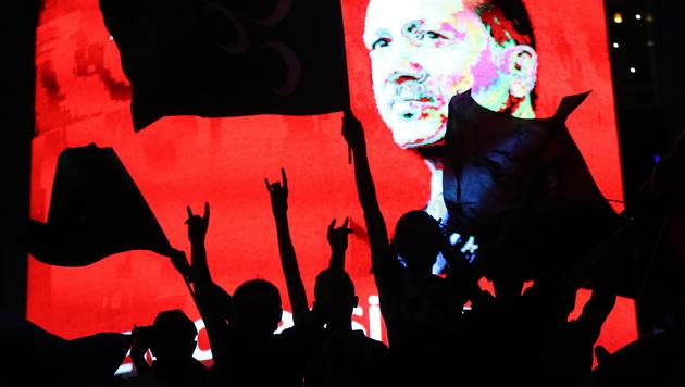 Anhänger Erdogans in Ankara (Bild: APA/AFP/ADEM ALTAN)