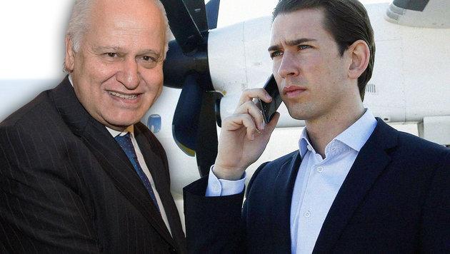 Der türkische Botschafter Hasan Gögüs; Außenminister Sebastian Kurz (Bild: APA/AUSSENMINISTERIUM/DRAGAN TATIC, picturedesk.com/Neumayr/Leo)