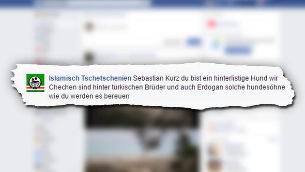 Sebastian Kurz  wurde auf Facebook übel beschimpft. (Bild: facebook.com)
